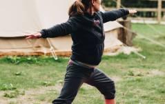 Warrior II. Yoga Abingdon